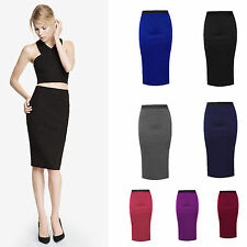 ☼ All Year Round - Warm Knee Length Ladies Pencil Skirt Midi ☼ All Size 8-22