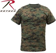 Woodland Digital Camouflage Marines Tactical Military Short Sleeve T-Shirt 6494