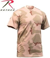 Tri-Color Desert Camouflage Tactical Military Army Short Sleeve T-Shirt 8767