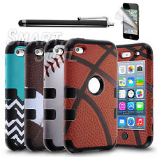 For Apple iPod Touch 4 G 4th Generation Hybrid HeavyDuty Rugged Case Cover Stand
