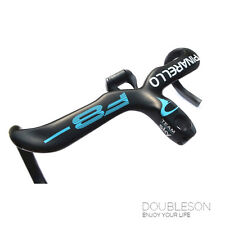 PINARELLO F8 Carbon Fiber Aluminum Integrated Drop Handlebar Stem Road Bike 380g