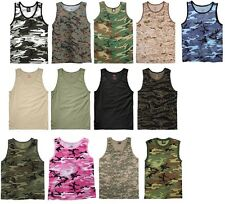 Camouflage Tactical Military Top Army Camo Tank Top