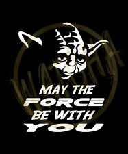 """Star Wars YODA'S Face """"May The Force Be With You"""" T-Shirts (S/M/L/XL) 2XL/3XL"""