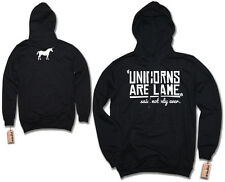 Hoodie - UNICORNS ARE LAME - DOPE HIPSTER Vintage Hoodie S M L XL XXL