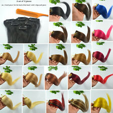 """20""""Long 12""""Wide 6Pieces 30g Hair Remy Clip In Human Hair Extensions With 6 Clips"""