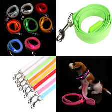New LED Flashing Light Dog Pet Safety Glow Rope Belt Harness Leash Lead 8 Colors