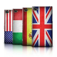 Hard Case Bumper Cover for Sony Xperia Z1 Compact / Printed Country Flag Design