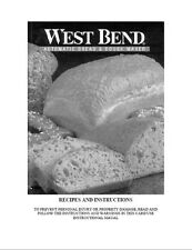 West Bend Bread Machine Manual 41077 41080 41082 41083 41085 41086 41087 41088