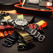 """5 Ring 11"""" 290mm ZULU Diver Suit Nylon Watch Long Strap Band 19,20,21,22,24mm"""