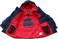 Boys Kids Caterpillar Puffa Jacket CAT Warm Padded Winter Puffer Coat School