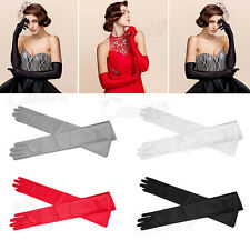 Ladies Party Dress Prom Evening Wedding Bridal Elegant Long Finger Gloves Ball