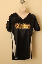Pittsburg STEELERS NFL Jeweled Ladies Jersey - Women's Fancy V-Neck Shirt