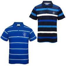 Rangers FC Official Football Gift Mens Striped Polo Shirt (RRP £29.99!)