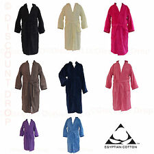 LUXURY 100% EGYPTIAN COTTON BATH ROBE FULL LENGTH *DRESSING GOWN  LUXURY FINSH *