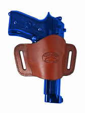 New Barsony Burgundy Leather Gun Quick Slide Holster Taurus Full Size 9mm 40 45