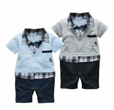 Baby Boy Formal Party Everyday Casual Suit Outfit One Piece Clothes NEWBORN0-18M