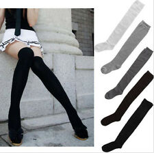 Colors Sexy Women Girl Thigh High Over The Knee Socks Cotton Stockings US