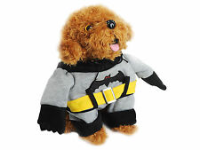 Anime Super Style Pet Dog Winter Warm Puppy Clothes with Two Legs Size S M L XL