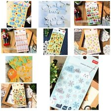 Korean multiple ideas Cute soft stickers Scrapbook Card DIY