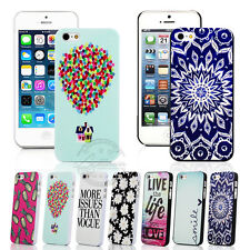 FASHION PAINTED PATTERN HARD BACK PLASTIC PC CASE COVER FOR IPHONE 5C 5S +FILM