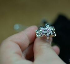 Nice Lord Of The Ring Nenya Galadriel's Zircon 925 Sterling Silver Ring BJ13
