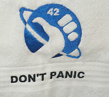 Dont Panic Towel Hitchikers Guide The Galaxy 42 Memorbilia Cosplay Deep Thought