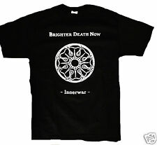 BRIGHTER DEATH NOW SHIRT cold meat industry mz.412 atrax morgue lustmord cd lp