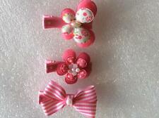 """PRETTY IN PINK"" HAIRCLIP TRIO  Baby,toddler,Girl Hairclips"