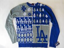 MLB Baseball team Los Angeles Dodgers NWT new ugly Christmas sweaters Busy Block