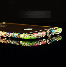 luxury Crystal Rhinestone Diamond Bling Metal Case Cover Bumper For iPhone Model