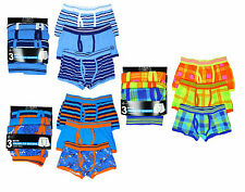 Kids Value Pack of 3 Trunk Fit Boxer Shorts Briefs Underpants 7-13 Years