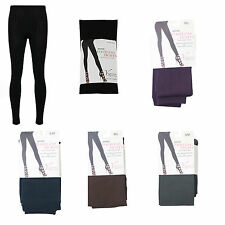 NEW LADIES WOMENS FOOTLESS TIGHTS FLEECE LINED WINTER WARM THERMAL SIZE