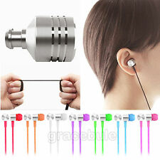 3.5mm Mic Headset For iPhone Samsung HTC In Ear Stereo Earbud Headphone Earphone