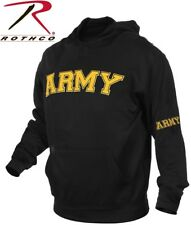 Black Military ARMY Pullover Warm Fleece Hooded Sweatshirt 2055