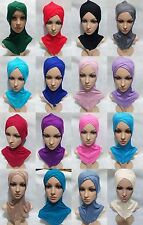 New Cotton Crossover Muslim Inner Caps Islamic Underscarf Hats Ninja Sport Hijab
