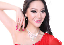 3pcs set Necklace/Ring/Earrings Belly Dance Costume Accessories Silver