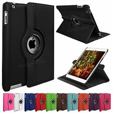 360 Rotating PU Leather Case Cover Stand for APPLE iPad Air iPad 4 3 2 iPad Mini