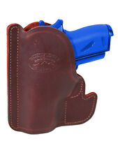 New Barsony Burgundy Leather Gun Pocket Holster SIG Walther Small Mini 22 25 380