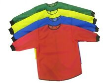 kids/children's long sleeve painting aprons with ribbed cuff