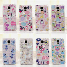 New Cute Cartoon Disney Crystal Clear Case Cover for Samsung Galaxy Note 3/4