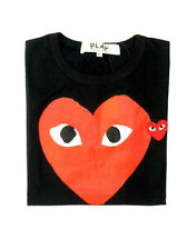 COMME DES GARCONS CDG PLAY RED HEART IN BLACK T-SHIRT