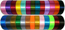 TOP QUALITY DOUBLE SIDED SATIN RIBBON, 50MM, 5 MTRS, ASSORTED COLS, ART 0422