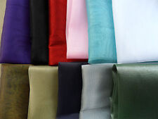 ORGANZA SHEER Shimmer FABRIC Voile Curtain Wedding Material 110cm Wide x 1yard
