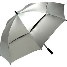 "62""or 68"" Jef UV Protection, Auto-Open, Double Canopy, Golf Umbrella in 3 colors"