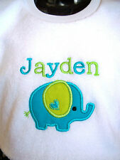 Personalised Baby Bib Elephant  Great Gift New Baby/ Twins/  /Name Day Any name