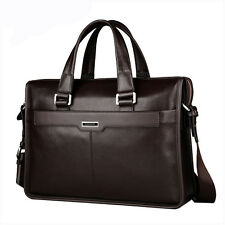 Men's Genuine Leather Briefcase Messenger Shoulder Business Handbag Laptop Bag