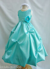 Mint/Meadow Green toddler teen pageant birthday wedding party flower girl dress
