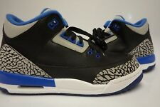 (398614-007) GRADE SCHOOL AIR JORDAN 3 RETRO SPORT BLUE/BLACK/WOLF GREY