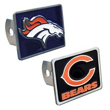 NFL Team Logo Rectangle Trailer Hitch Cover  * Pick Your Team *