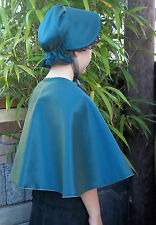 Victorian Style CAPE& BONNET Ladies&GirlsRED Peach/Purple/Pink//Green/Jade/Black